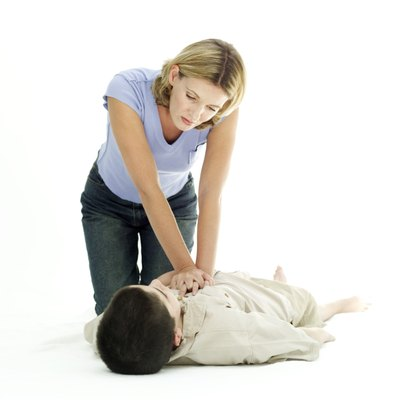 A CPR instructor teaches cardio pulmonary resuscitation.
