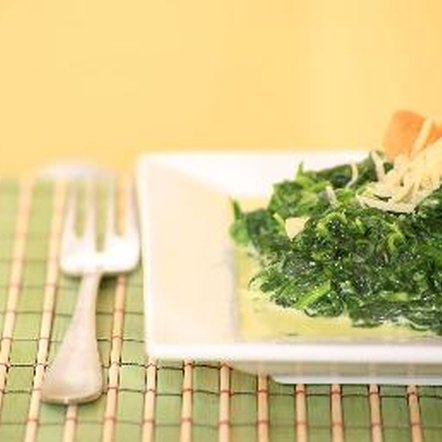 Spinach is a healthy addition to any meal.