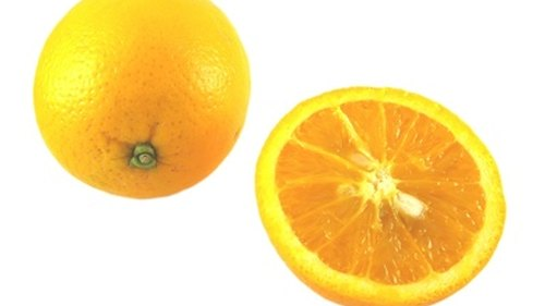 <p>The inside, white part of the orange rind whitens teeth.</p>