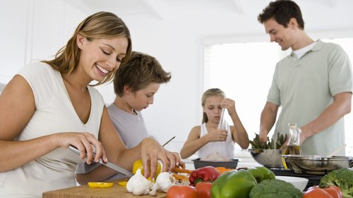 <p>Cooking meals together can encourage healthy habits in the whole family.</p>