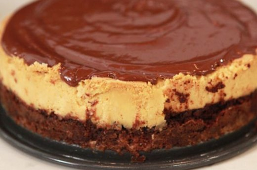 Brownie Butterscotch Cheesecake