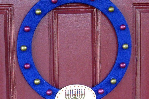 How to Make a Hanukkah Wreath