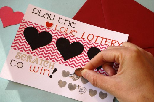 DIY Scratch-Off Valentine's Day Card
