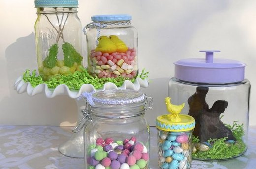 Easter Candy Terrariums
