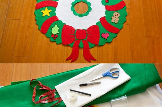 Get Crafty: Christmas Tree Skirt