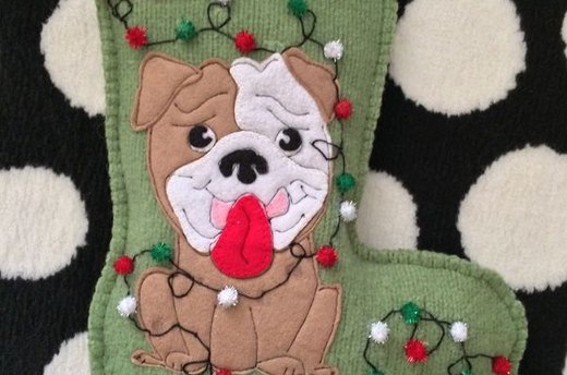Pom-Pom Doggy Stocking