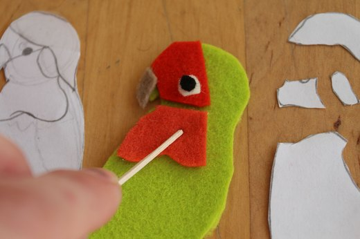 Glue Felt Pieces Down