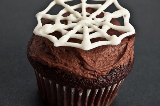 Spooky Spider Web Cupcake Toppers