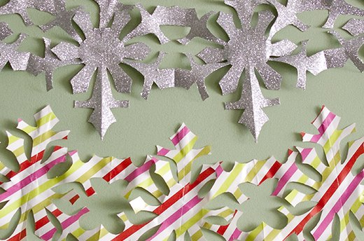Get Crafty: Homemade Snowflake Chains