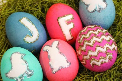 Monogram and Silhouette Eggs