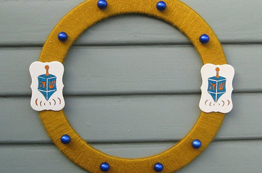 Finished Dreidel Wreath