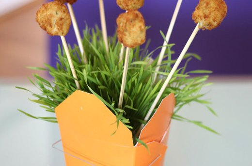 Idea #3: Wheatgrass Appetizer Display