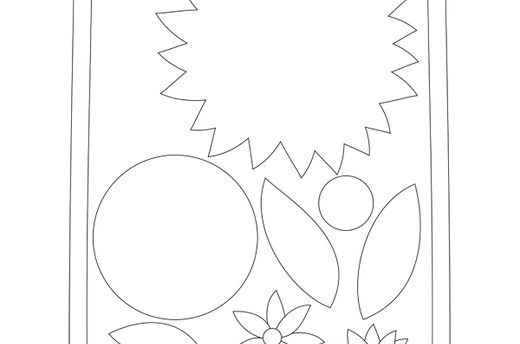 Download the Sunburst Flower Template