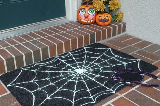 Halloween Spiderweb Doormat