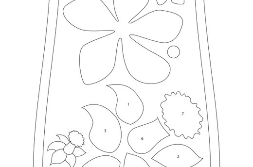 Download the Flower and Daffodil Template