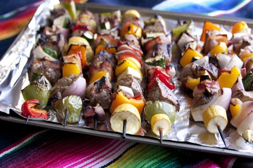 Steak and Bacon Shish Kebabs