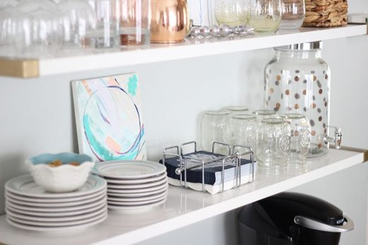 For the Kitchen: Style Shelves for a Chic Bar Cart Look