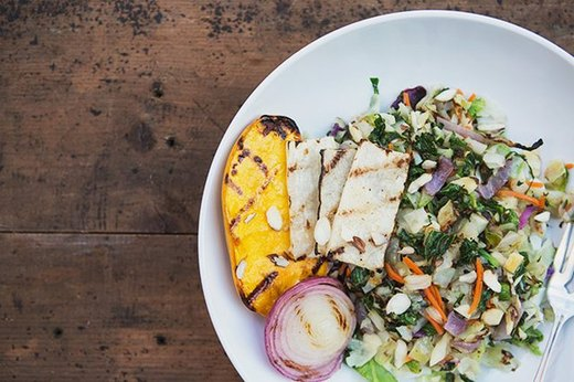 Chopped Salad and Grilled Veggies