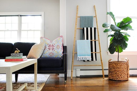 Clear Overpacked Shelves With an On-Trend Ladder