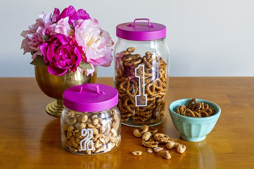DIY Etched Glass Jars