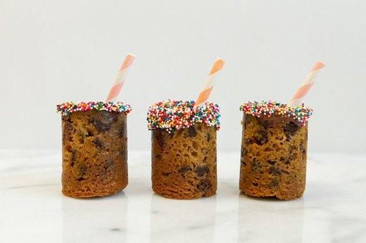 3. Edible Milk-and-Cookies Shot Glasses
