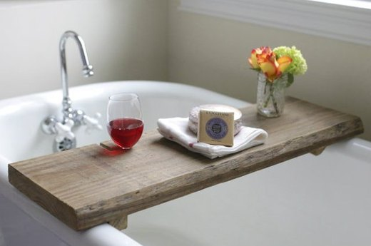 For the Bathroom: Make a Rustic Bath Caddy