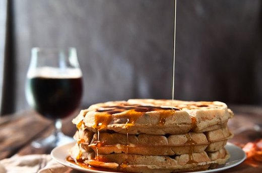 Brown Sugar and Bacon Beer Waffles