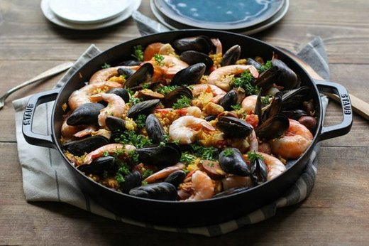 Go Family-Style With Seafood Paella