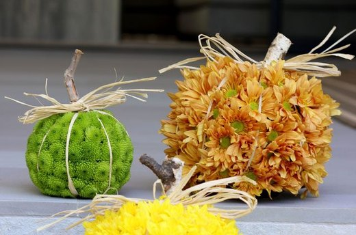 Pumpkin-Shaped Floral Arrangements