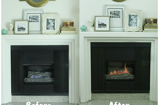 Make a Gas Fireplace More Like a Wood-Burning One