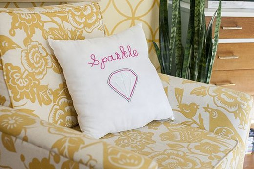 Make Your Own Embellished Throw Pillow