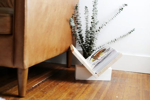 Go Minimalist with a Natural Magazine Rack