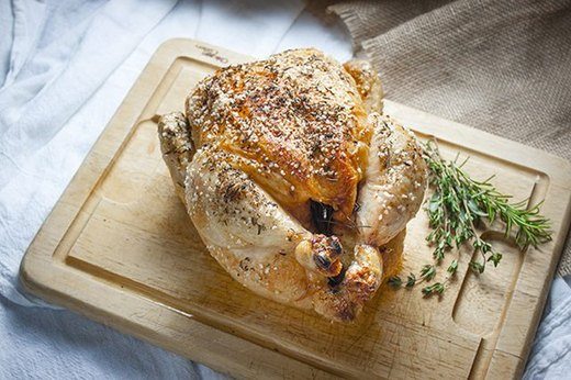 Simple Roasted Chicken and Root Vegetables