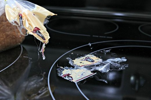 Melted Plastic on a Stovetop