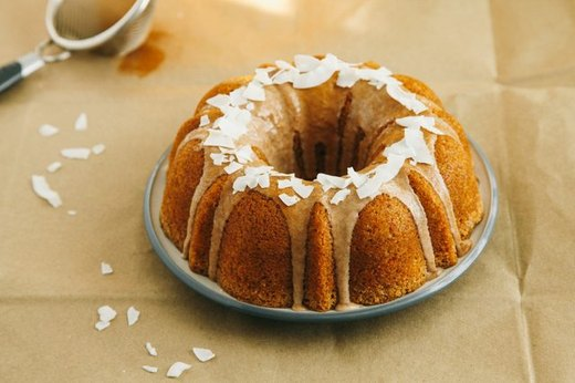 Coconut-Pecan Carrot Cake with Cinnamon Glaze