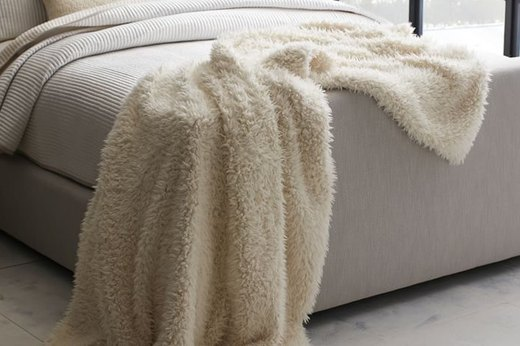 Faux Sheepskin Oversize Throw
