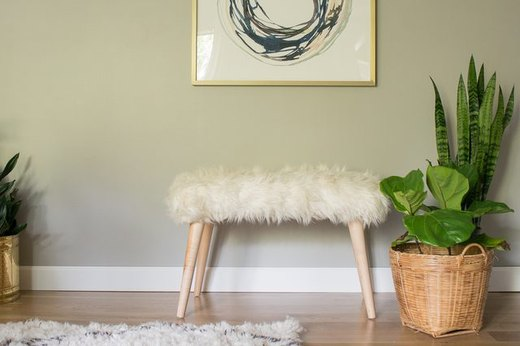 Upcycle a Shag Rug Into a Bench