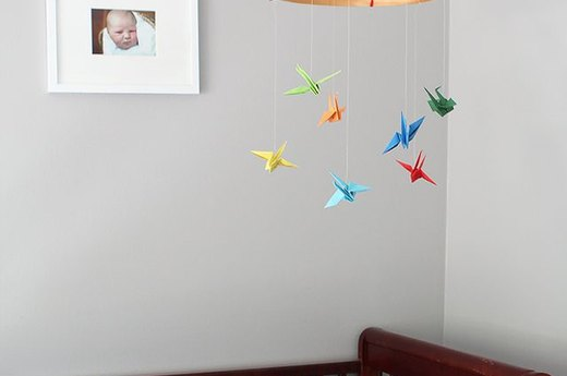 Decorate the Nursery With a DIY Paper Crane Mobile