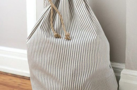 Make a Drawstring Bag for Easy Laundry Days