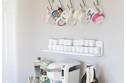 Craft Your Own Clutter-Free Coffee Bar