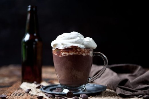 Stout Hot Chocolate With Beer Whipped Cream