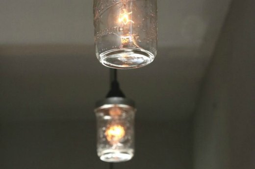 Mason Jar Light Fixture