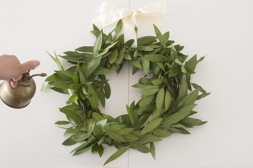 An Olive Wreath to Welcome Everyone to the Neighborhood