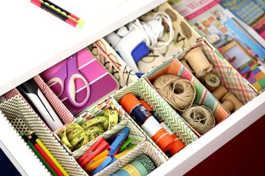 Cardboard Box Desk Drawer Organizers