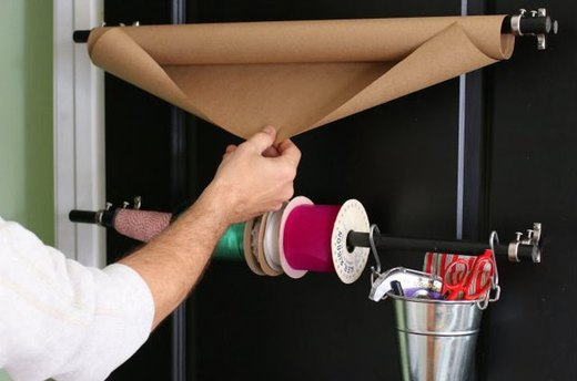 Create a Curtain Rod Wrapping Station