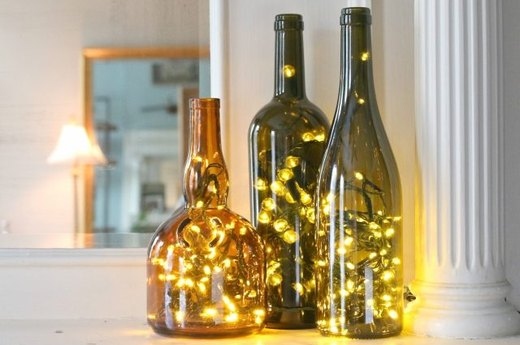 Upcycle Wine Bottles Into Festive Lighting
