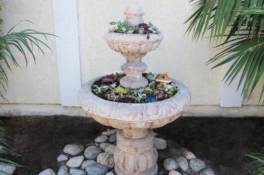 Repurposed Fountain Planter