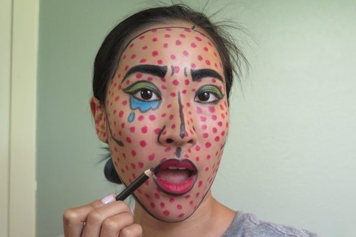 Lichenstein Comic Book Makeup