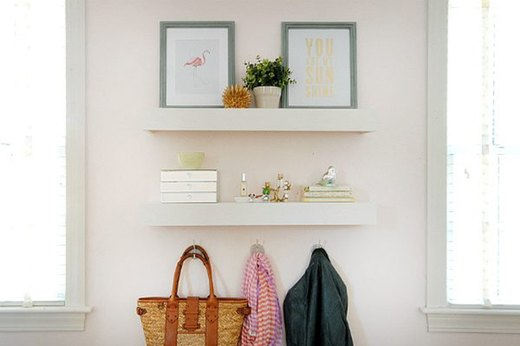 For the Family Room: Build Easy-To-Make Floating Shelves
