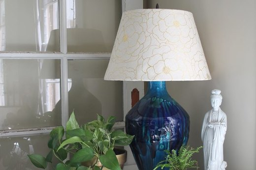 Transform a Basic Lamp With a Simple Fabric Shade